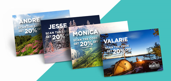 PFL Personalized Discount Post Cards for Direct Mail Inspiration