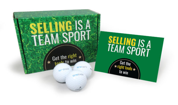TimeTrade Golf Ball Direct Mail Package
