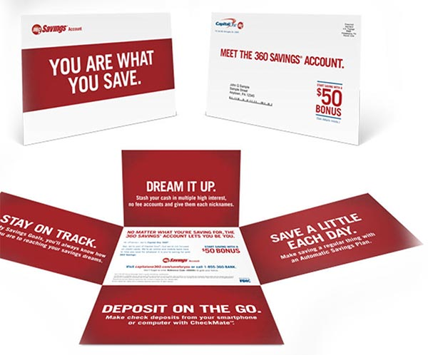 Capital One 360 Direct Mail Example