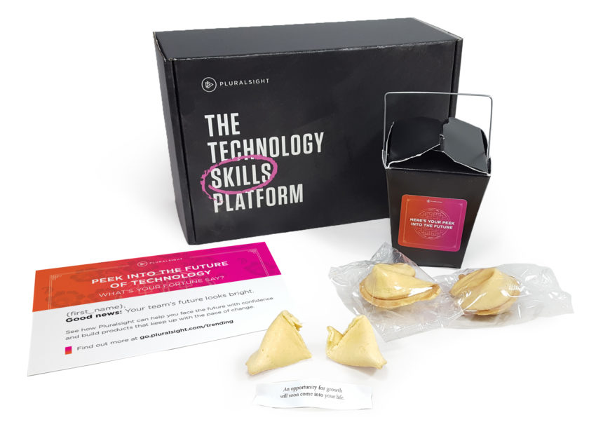 This future-focused kit from Pluralsight includes fortune cookies