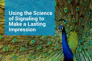 The male peacock uses signaling to show off how fit he is.