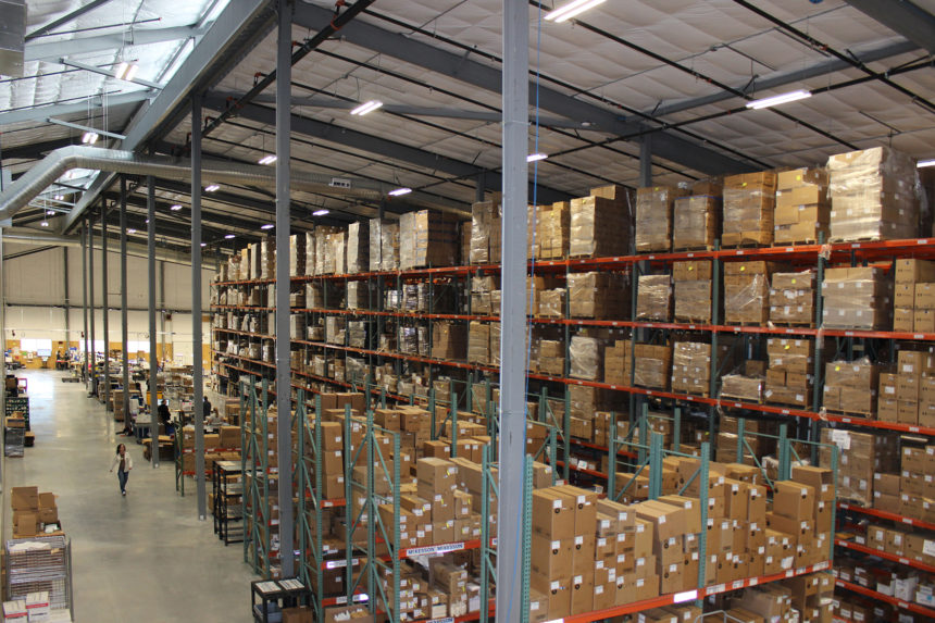 The warehouse portion of the 100,000+ square foot facility that is the PFL headquarters. PFL follows strict guidelines for health and safety.