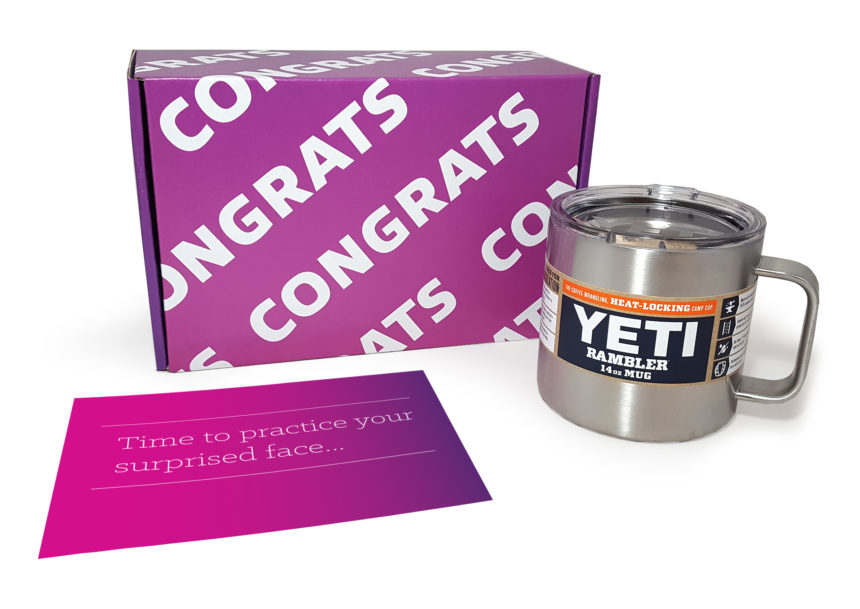 This Yeti rambler mug kit from Insight is the first touch point in a multichannel journey.