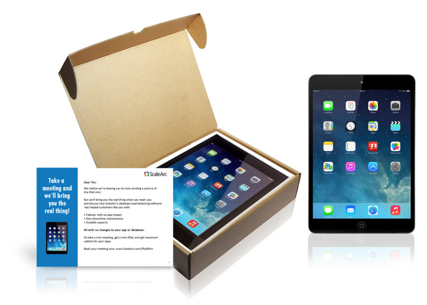 The iPad Mini meeting maker kit makes for an effective account-based marketing campaign.