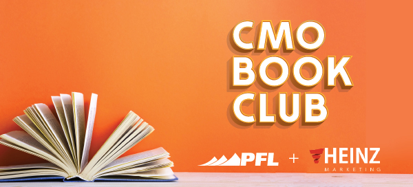 The header for the PFL & Heinz Marketing CMO Book Club.