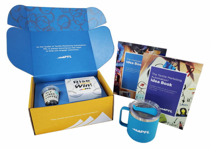 This coffee mailer will perk up recipients and brighten their day.