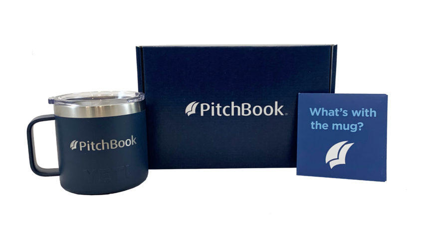 The PitchBook welcome kit tells a story of how a successful investor used their software.