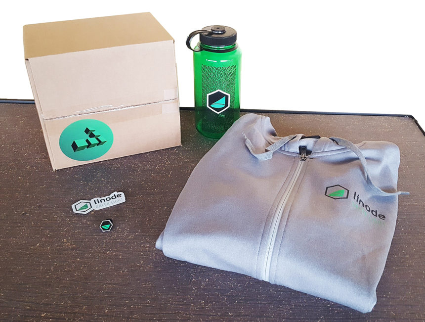 This kit from Linode includes a quality hoodie for their software beta testers. Building customer loyalty should involve fostering brand pride.