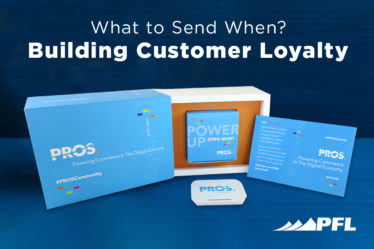 What do you send via direct mail when you want to build customer loyalty?