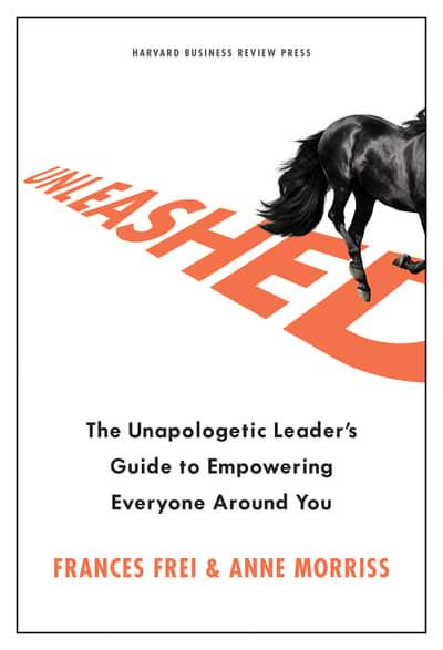 The book cover for Unleashed: The Unapologetic Leader's Guide to Empowering Everyone Around You
