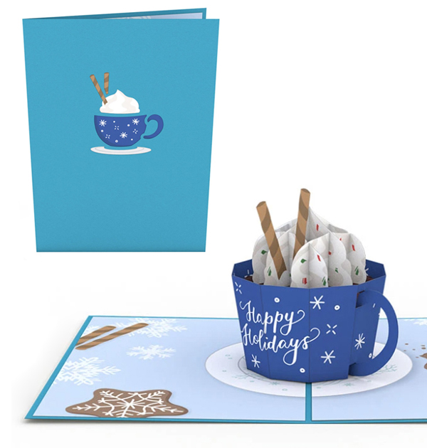 This pop-up greeting card will delight someone have have that sticky factor as it becomes a holiday decoration.