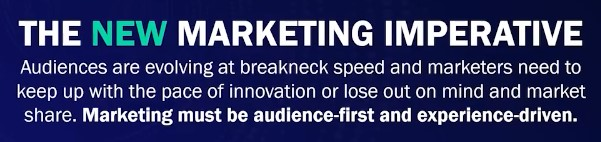 ON24X Marketing Imperative: Marketing must be audience-first and experience-driven.